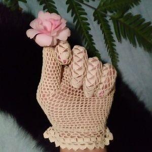 Pair Crochet Gloves Lace